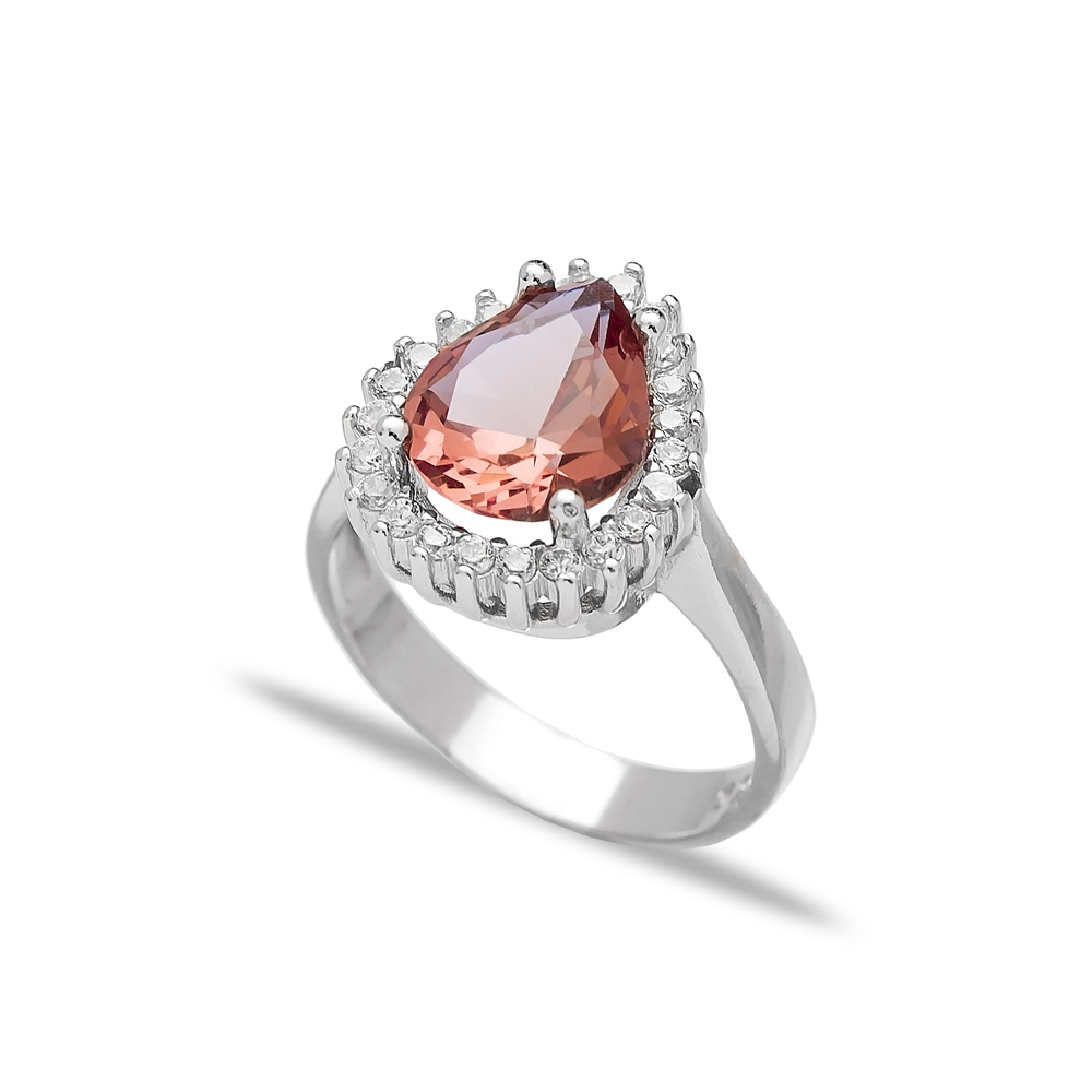 Drop Shape Zultanite Stone Elegant Ring Turkish Wholesale Handmade 925 Sterling Silver Jewelry