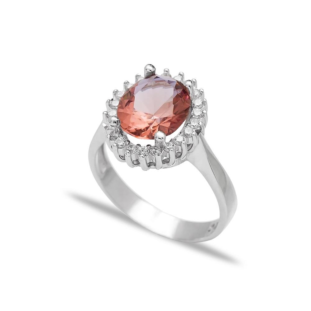 Oval Shape Zultanite Stone Ring Turkish Wholesale Handmade 925 Sterling Silver Jewelry