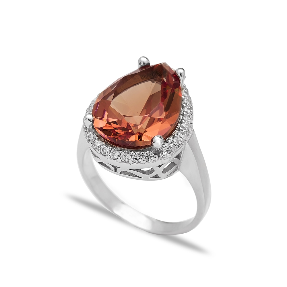 Diamond Cut Zultanite Stone Ring Turkish Wholesale Handmade 925 Sterling Silver Jewelry