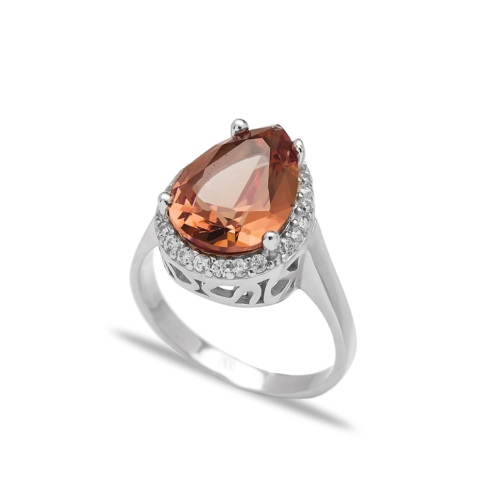 Zultanite Stone Drop Shape Ring Turkish Wholesale Handmade 925 Sterling Silver Jewelry