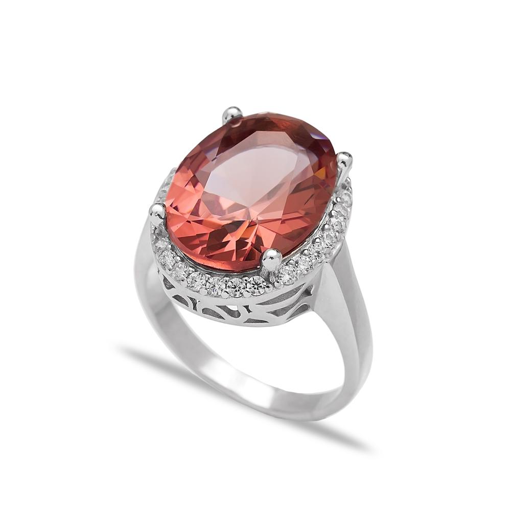 Oval Shape Zultanite Stone Elegant Ring Turkish Wholesale Handmade 925 Sterling Silver Jewelry