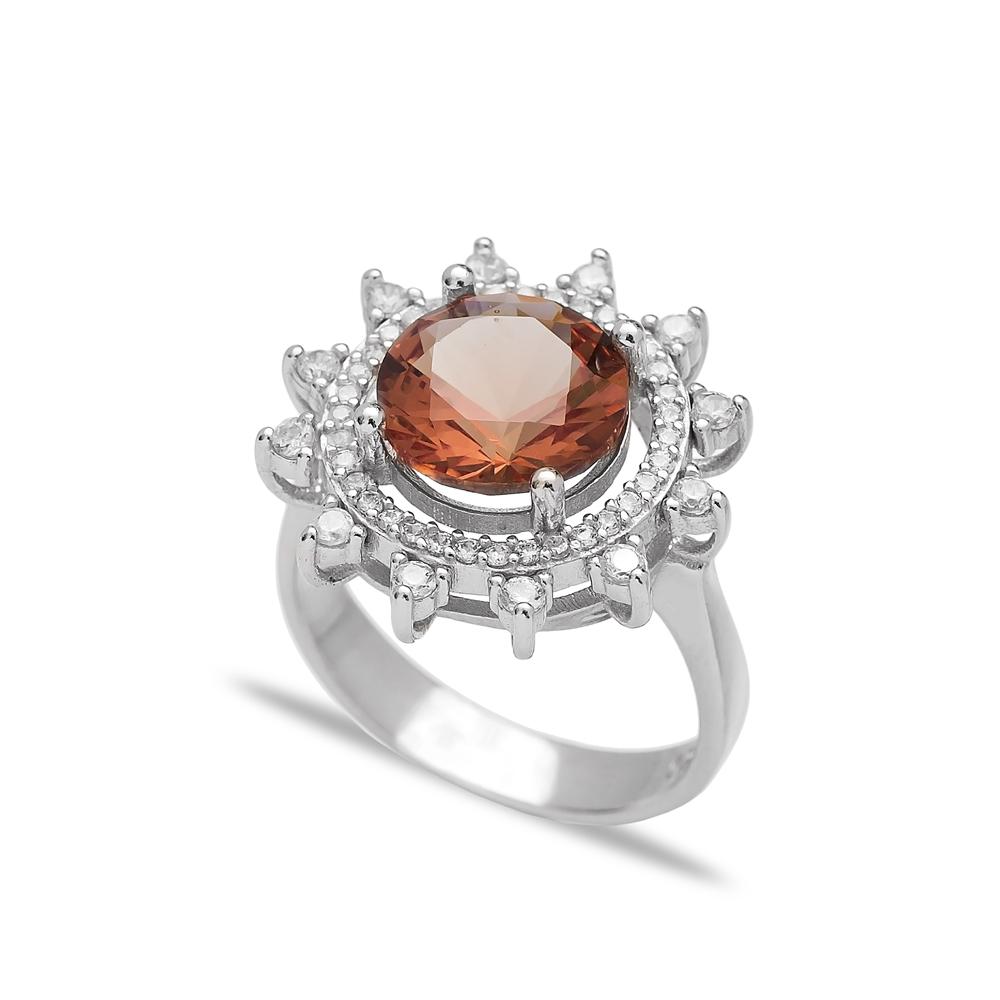 Trendy Zultanite Stone Elegant Ring Turkish Wholesale Handmade 925 Sterling Silver Jewelry