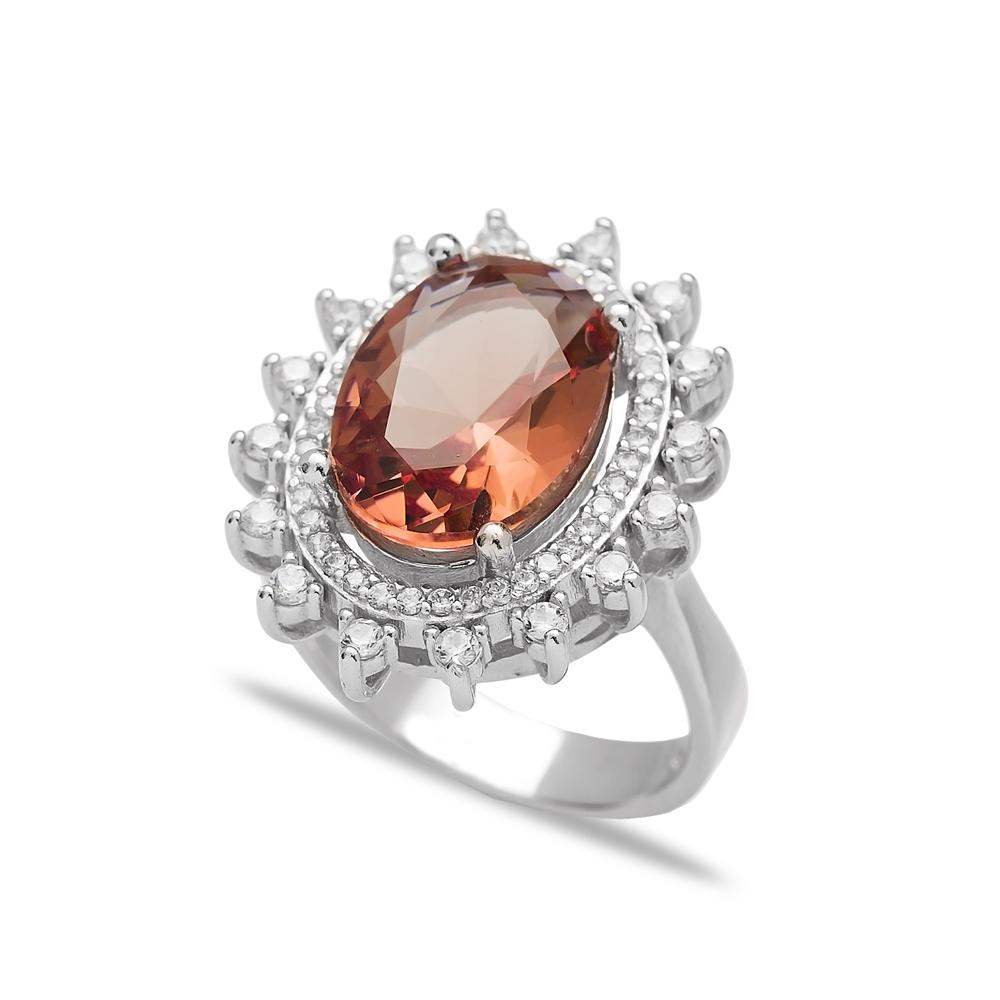 Fashion Zultanite Stone Oval Shape Ring Turkish Wholesale Handmade 925 Sterling Silver Jewelry