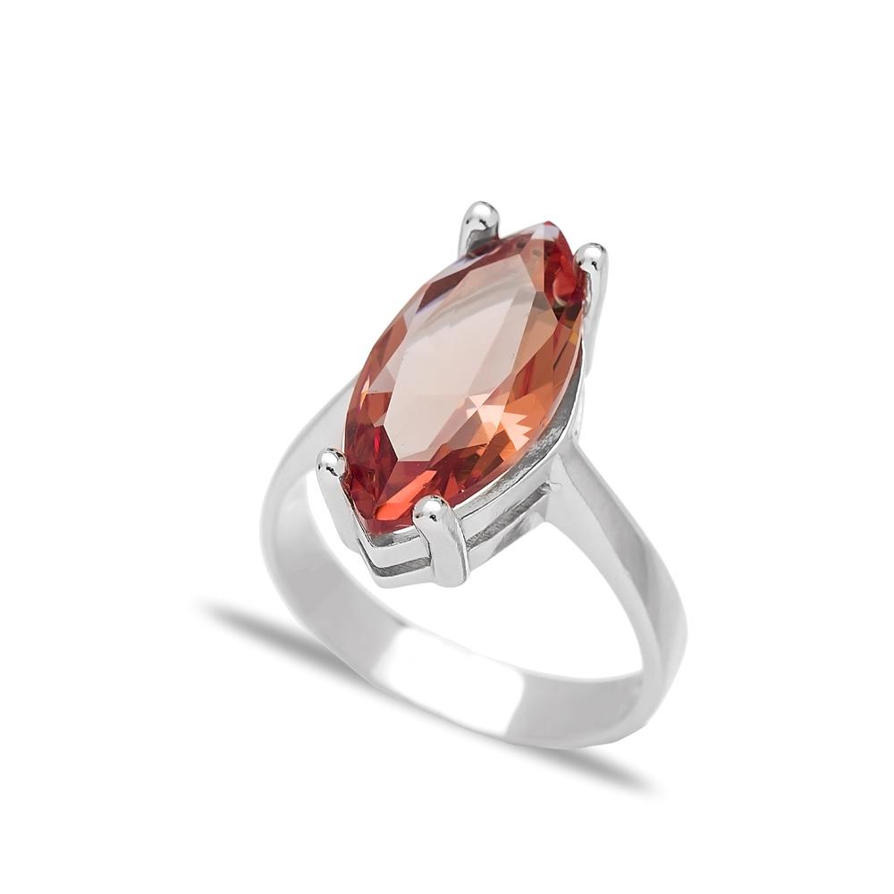 925 Sterling Silver Jewelry Basic Zultanite Stone Oval Shape Ring Turkish Wholesale Handmade