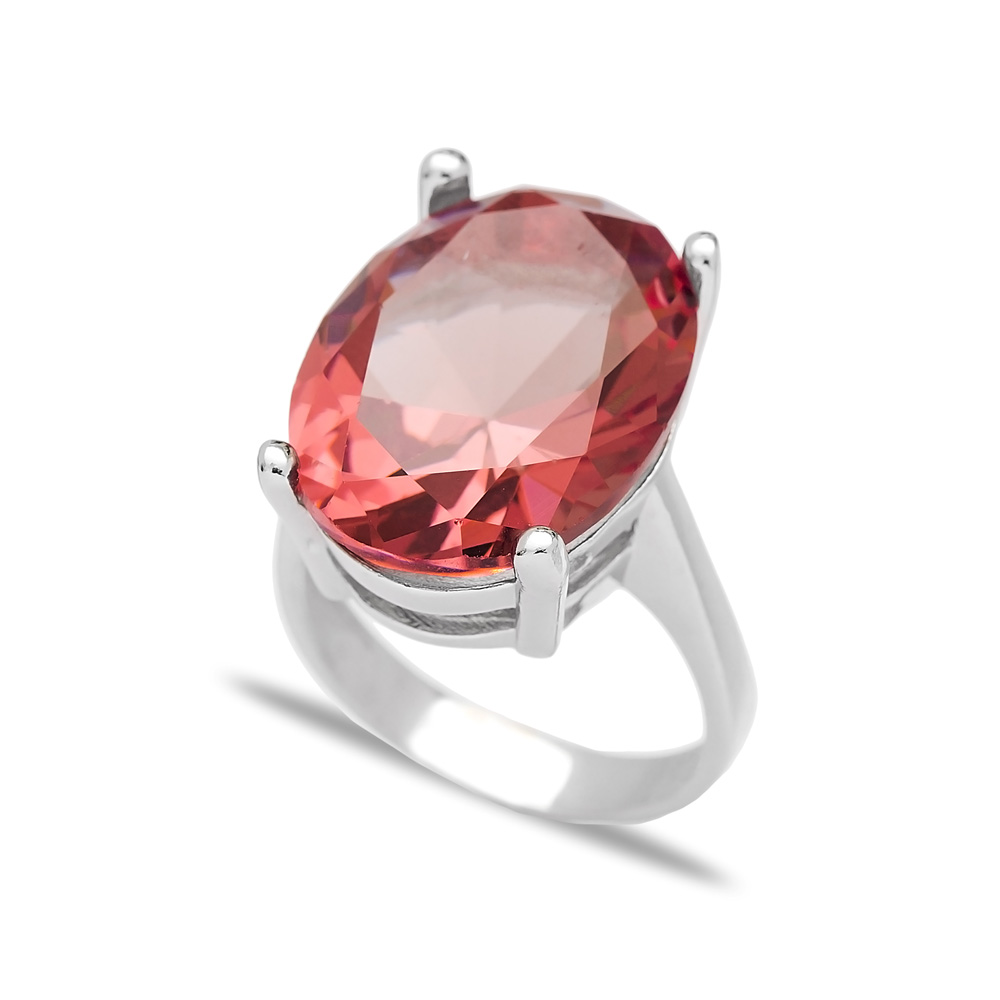 Elegant Zultanite Stone Drop Shape Ring Turkish Wholesale Handmade 925 Sterling Silver Jewelry