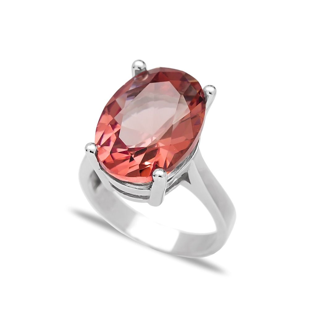 Fashionable Zultanite Stone Drop Shape Ring Turkish Wholesale Handmade 925 Sterling Silver Jewelry