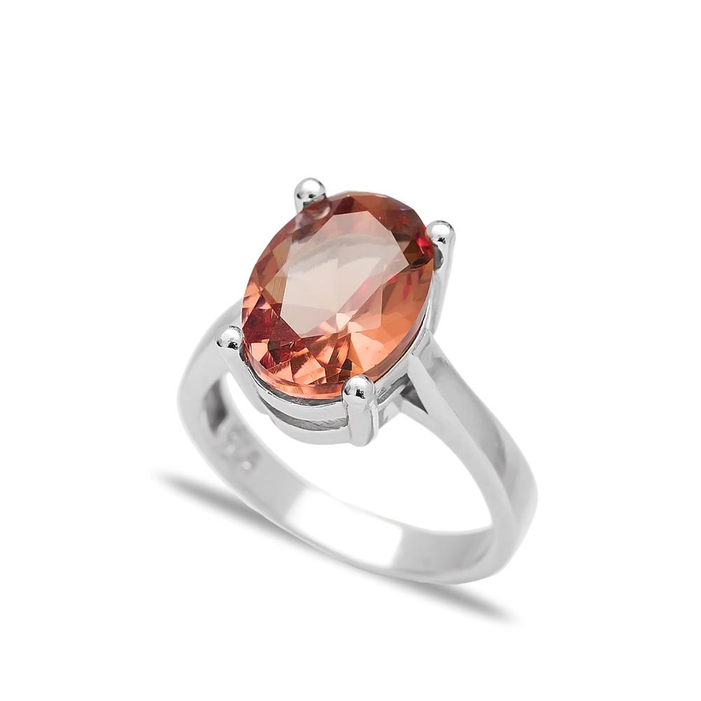 925 Sterling Silver Jewelry Zultanite Stone Drop Shape Ring Turkish Wholesale Handmade