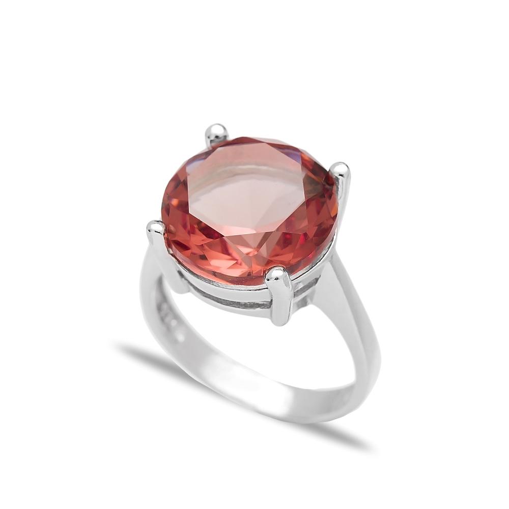 Fashionable Zultanite Stone Round Shape Ring Turkish Wholesale Handmade 925 Sterling Silver Jewelry