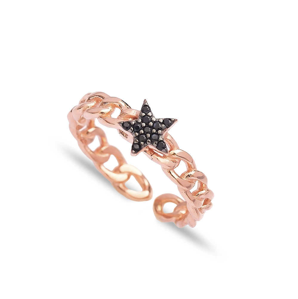 Star Design Adjustable Ring Turkish Wholesale Handcrafted 925 Silver Jewelry