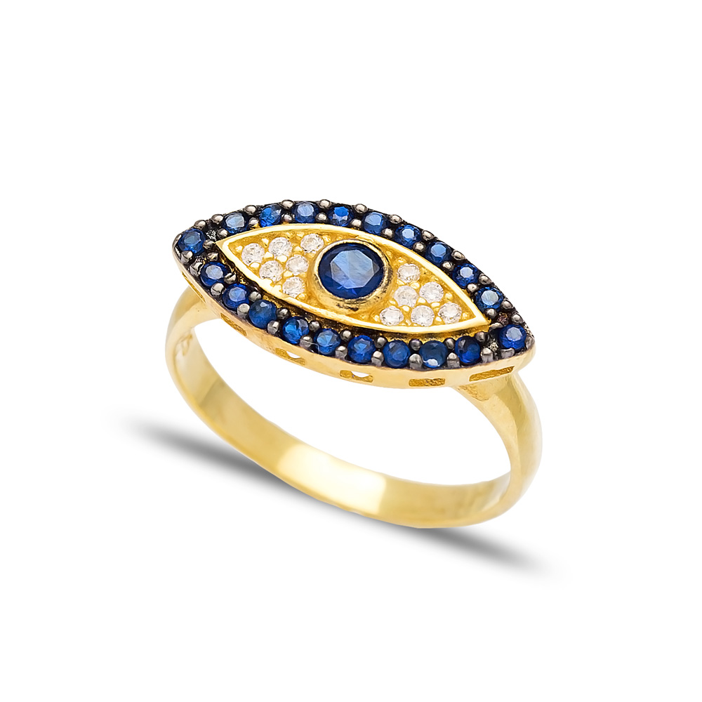 Evil Eye Design Ring Wholesale Handcrafted 925 Sterling Silver Jewelry