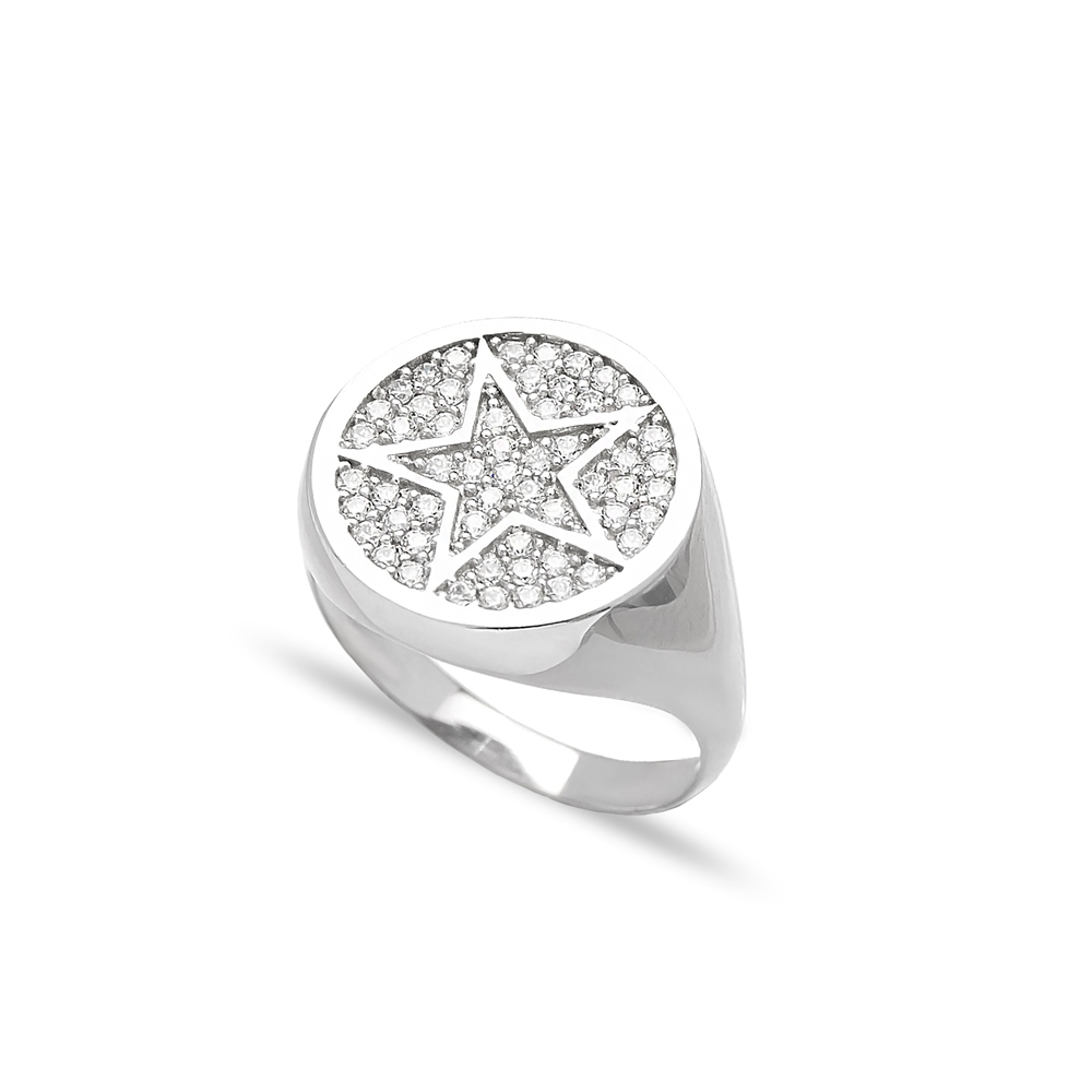 Star Emblem Ring Wholesale Handcrafted 925 Sterling Silver Jewelry