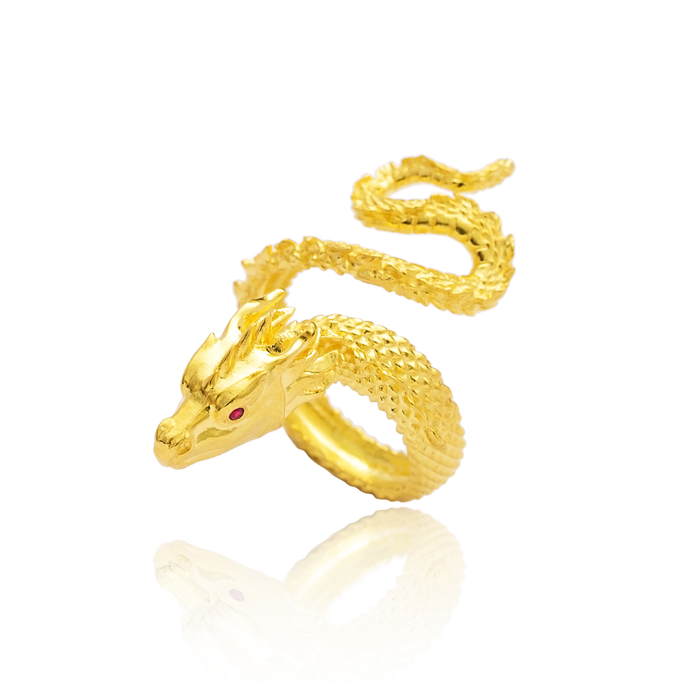 Unique Dragon Design Adjustable Ring Turkish Wholesale 925 Silver Sterling Jewelry