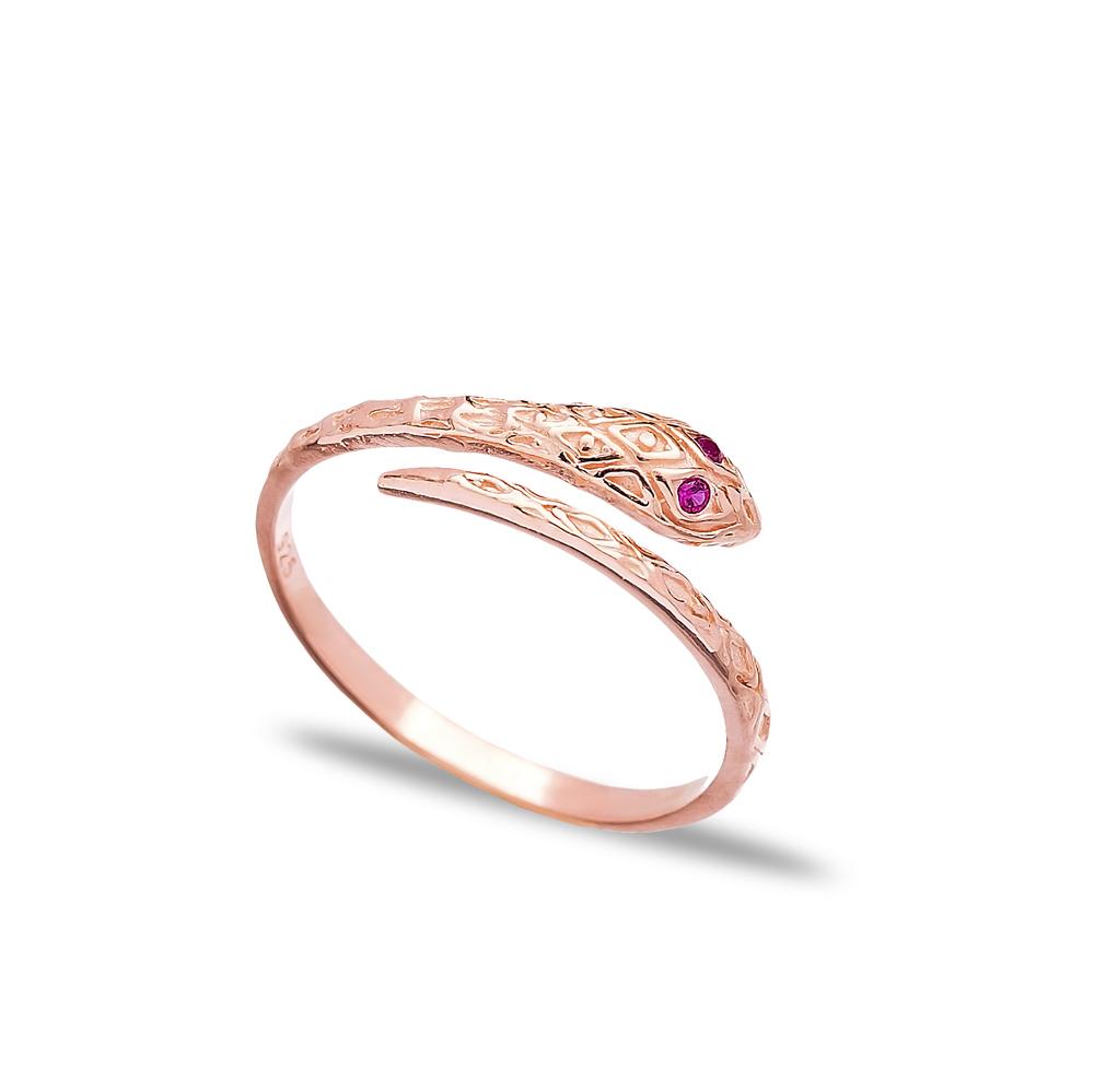 Dainty Snake Design 925 Sterling Silver Adjustable Ring