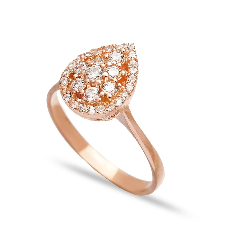 Wholesale Trendy New Model Zircon Handmade Ring 925 Sterling Silver Jewelry
