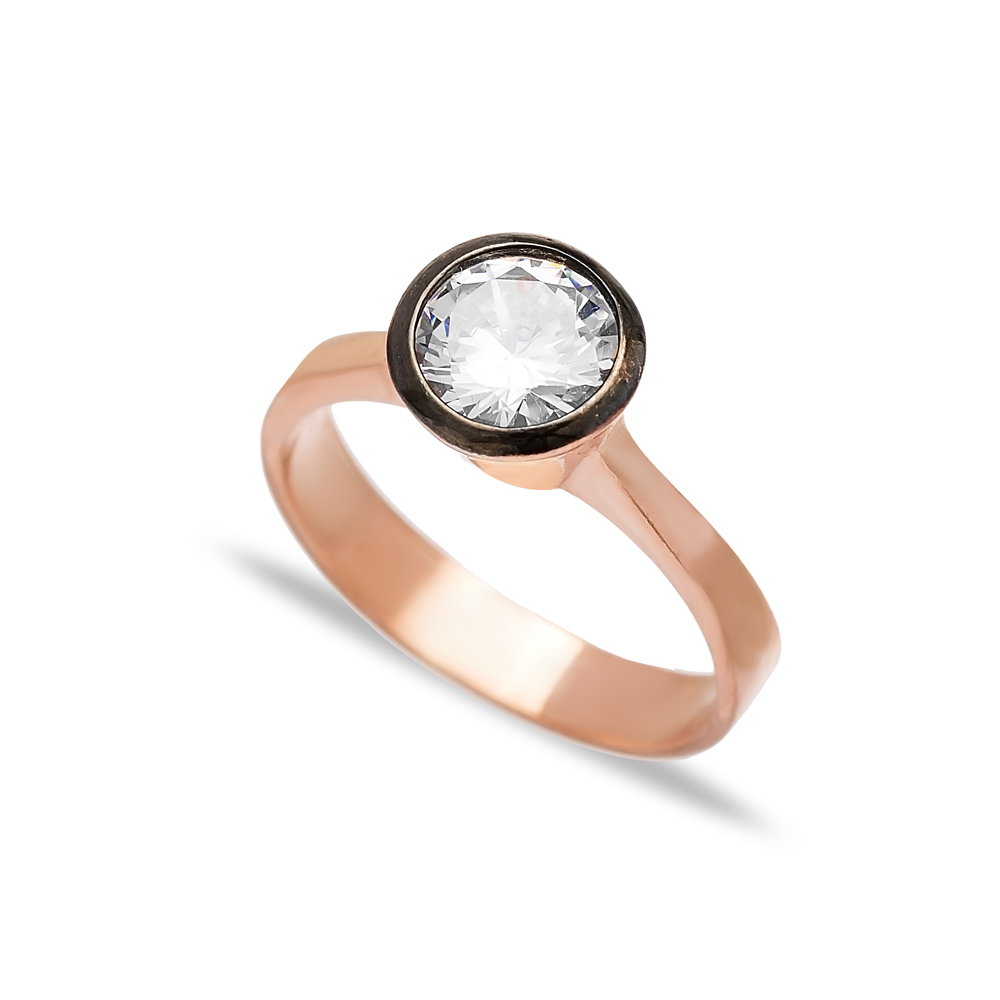 Dainty Wedding Band Ring Zircon Stone Wholesale Handcrafted 925 Sterling Silver Jewelry