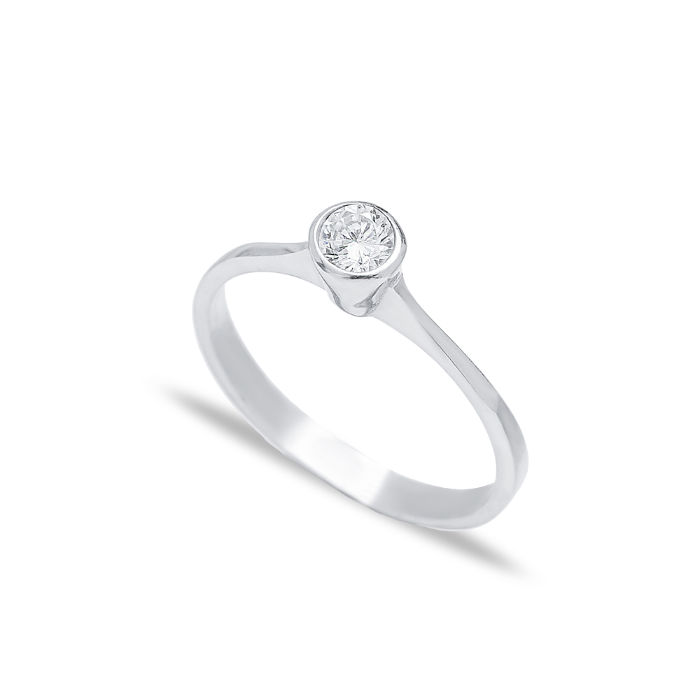 Zircon Dainty Engagement Ring Handmade Wholesale 925 Sterling Silver Jewelry