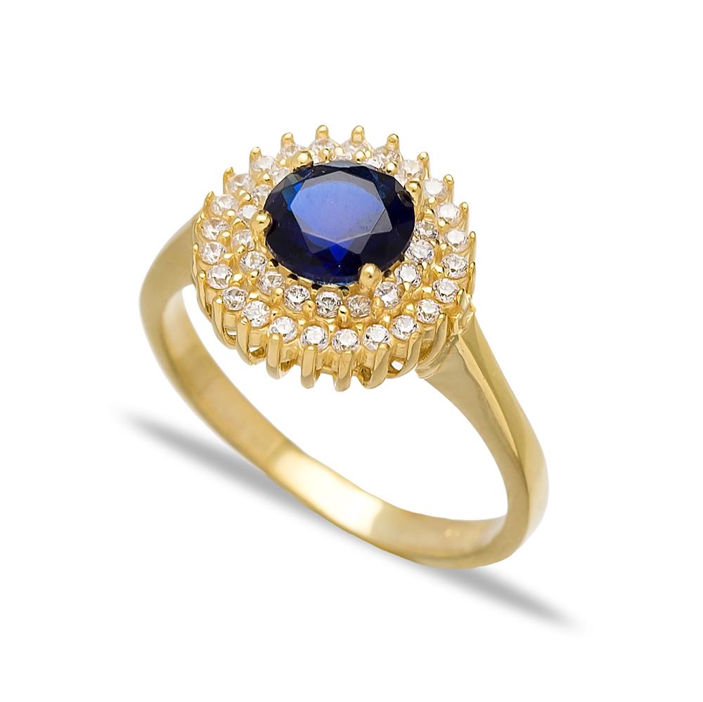 Dainty Design Sapphire Turkish Rings Wholesale Handmade 925 Sterling Silver Jewelry