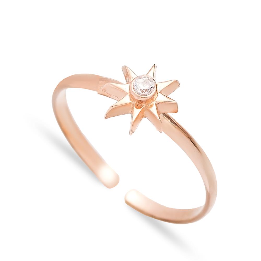 Minimal Star Design Adjustable Ring Handmade Wholesale Sterling Silver Jewelry
