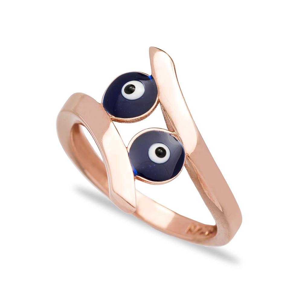 Evil Eye Design Elegant Ring Turkish Wholesale 925 Sterling Silver Jewelry
