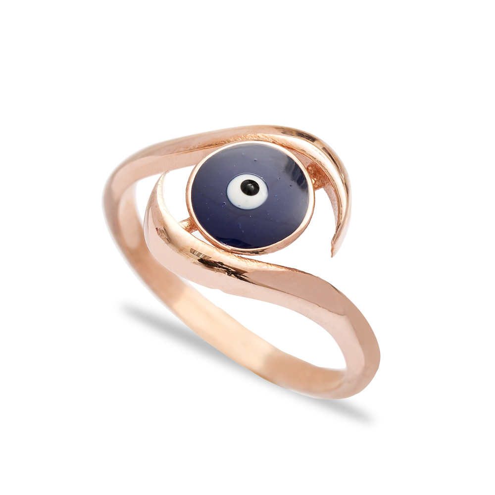 Silver Turkish Evil Eye Design Ring Wholesale 925 Sterling Silver Jewelry