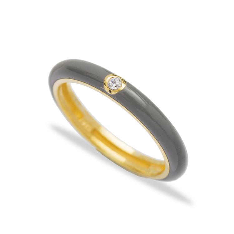 Enamel Trendy Zircon Stone Ring Wholesale 925 Sterling Silver Jewelry Online