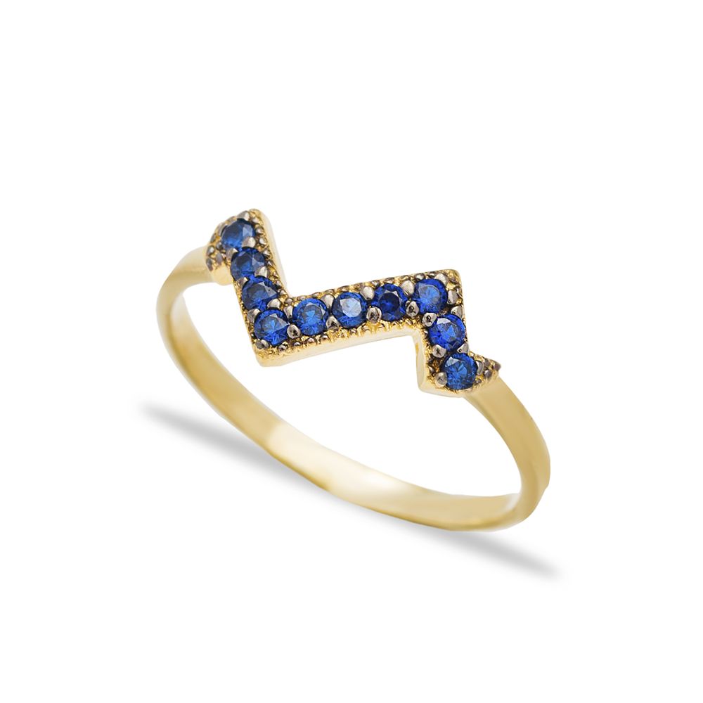 Minimalist Sapphire Stone Cluster Ring Wholesale Handcrafted 925 Sterling Silver Jewelry