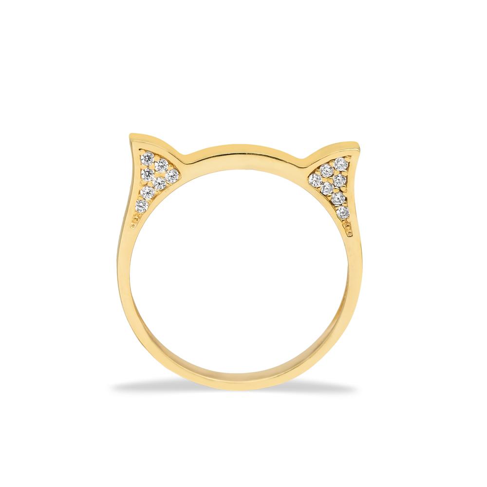 Dainty Cat Head Ring Kitten Turkish Wholesale 925 Silver Sterling Jewelry