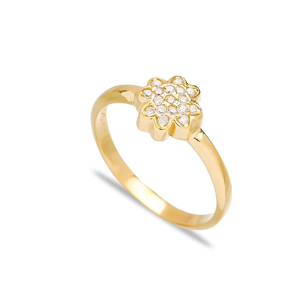 Elegant Design Silver Cluster Ring Wholesale Turkish 925 Sterling Silver Jewelry