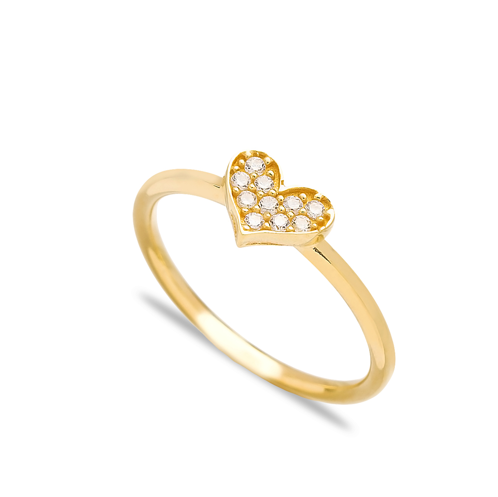 Heart Design Minimal Silver Cluster Ring Wholesale Turkish 925 Sterling Silver Jewelry