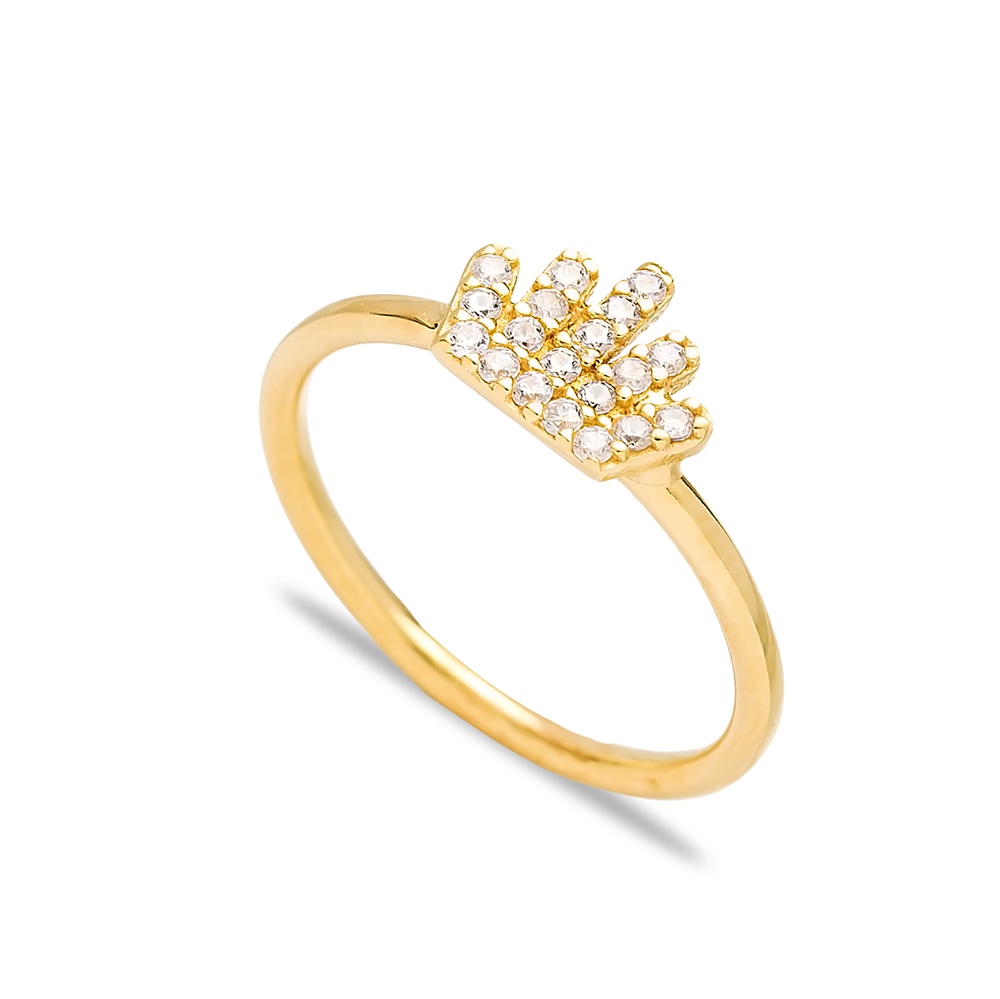 Crown Design Silver Cluster Ring Wholesale Turkish 925 Sterling Silver Jewelry