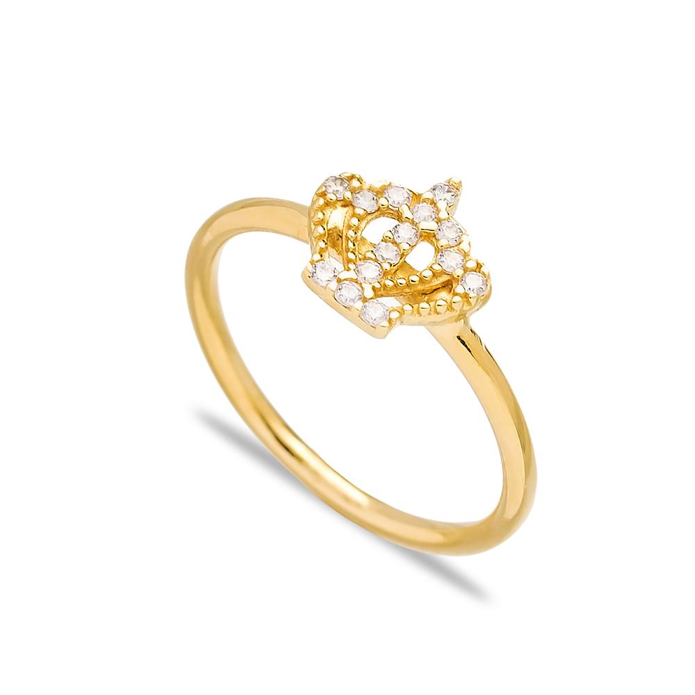 Crown Design Zircon Elegant Cluster Ring Wholesale Turkish 925 Sterling Silver Jewelry