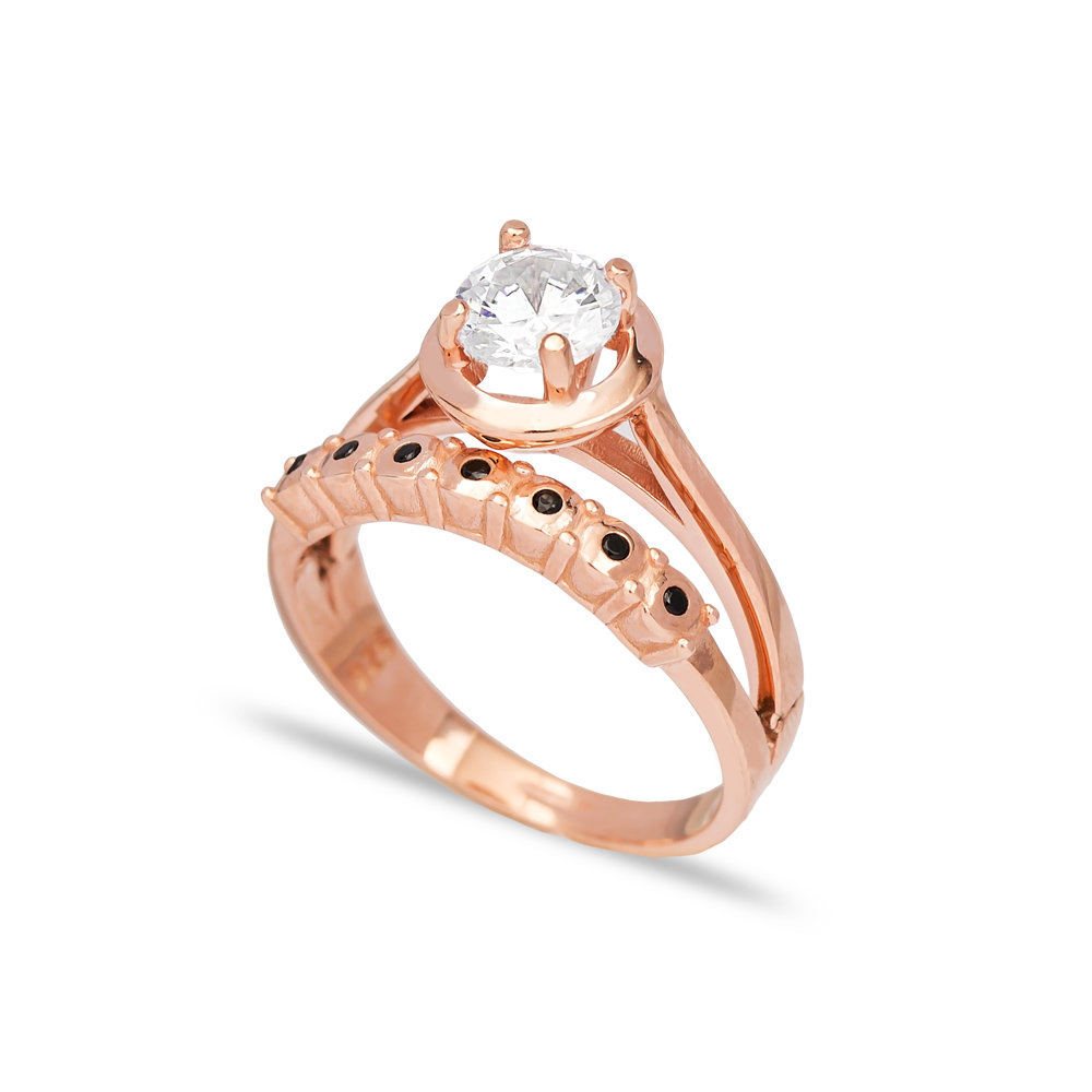 Dainty CZ Stone Engagement Ring Wholesale Handcrafted 925 Sterling Silver Jewelry