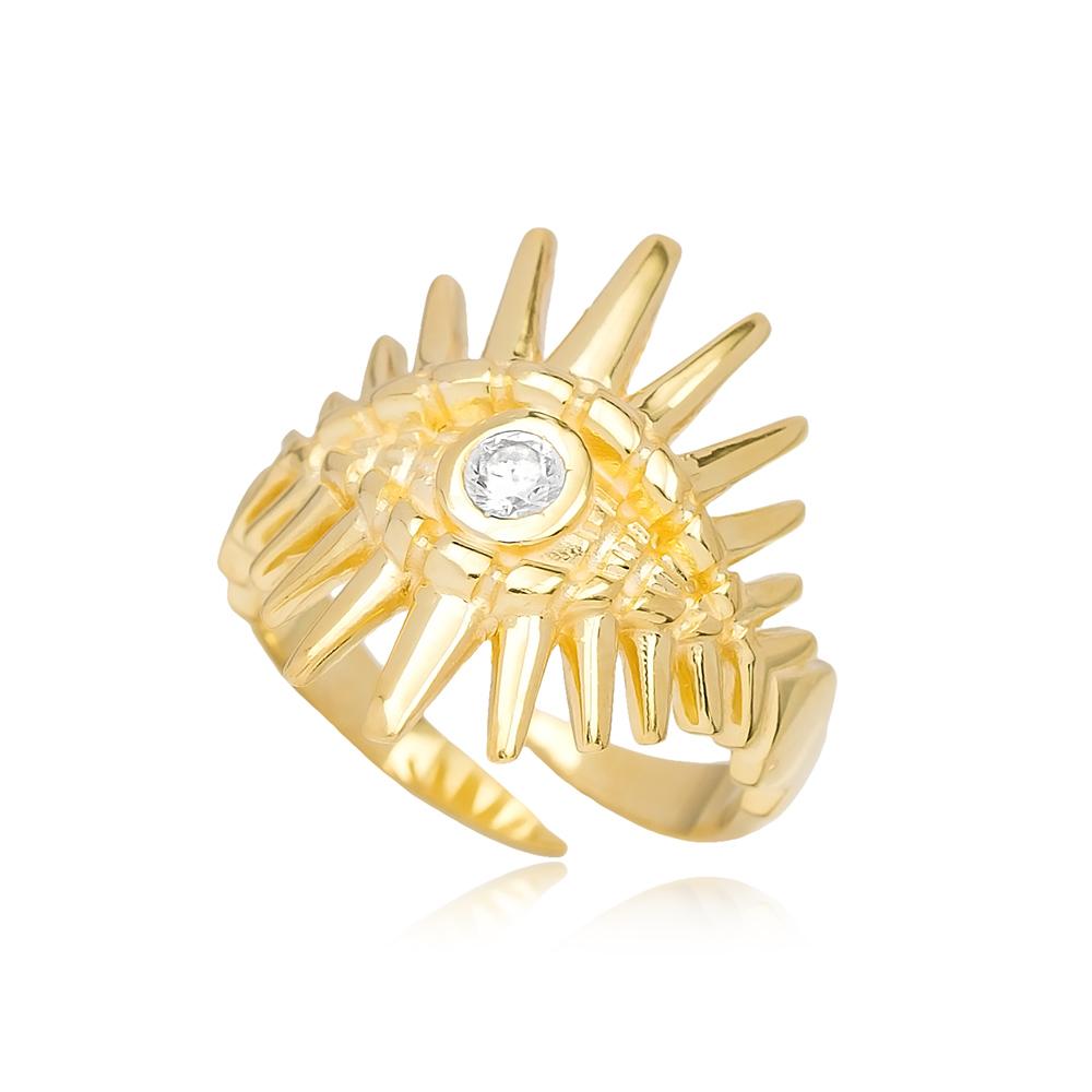 Evil Eye Design Adjustable Trendy Ring Turkish Wholesale 925 Sterling Silver Jewelry