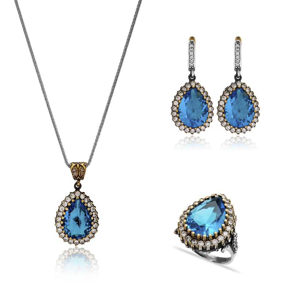 Authentic Silver Set In Wholesale Handmade Turkish 925 Silver Sterling Jewelry