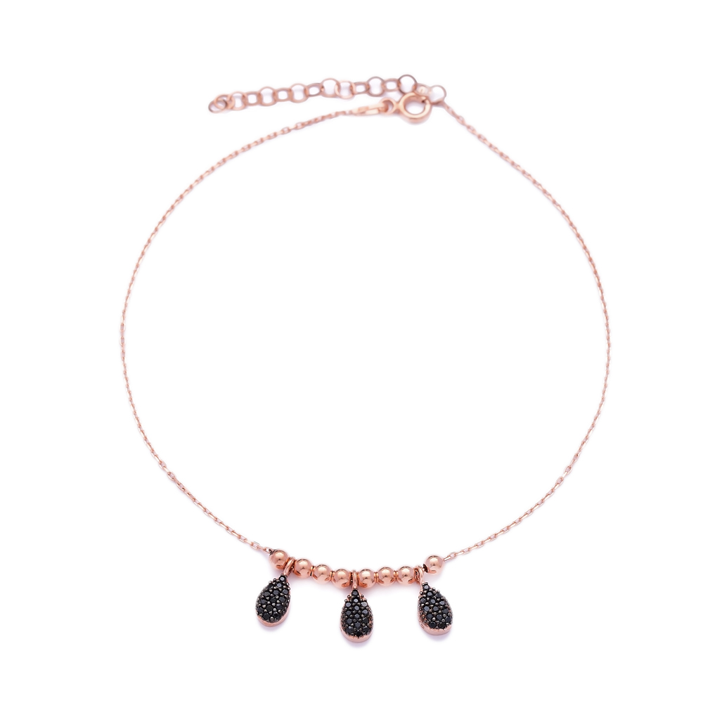Silver Elegant Beaded Turkish Wholesale Handcrafted Silver Anklet
