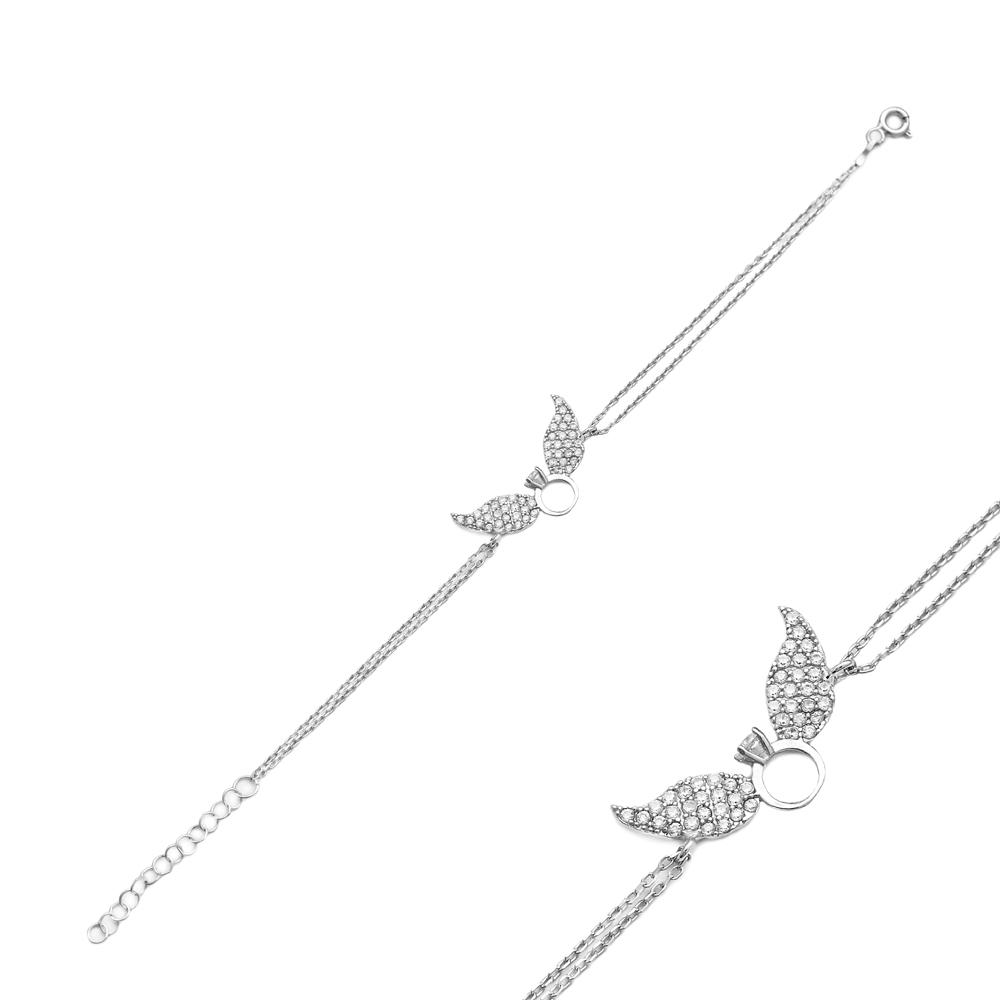 Angel Wing Design Wholesale Handcraft Silver Sterling Jewelry Bracelet