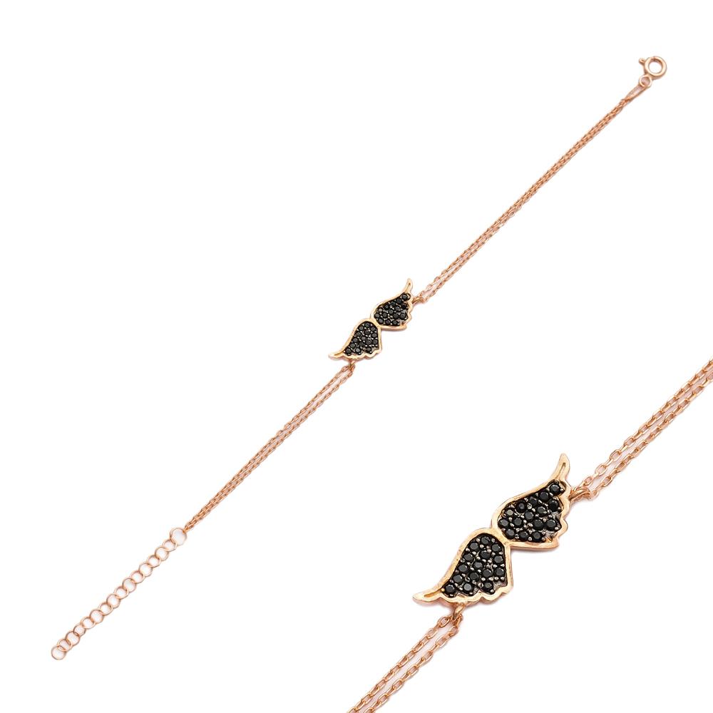 Minimalist Wings Design Wholesale Handcraft Silver Sterling Jewelry Bracelet