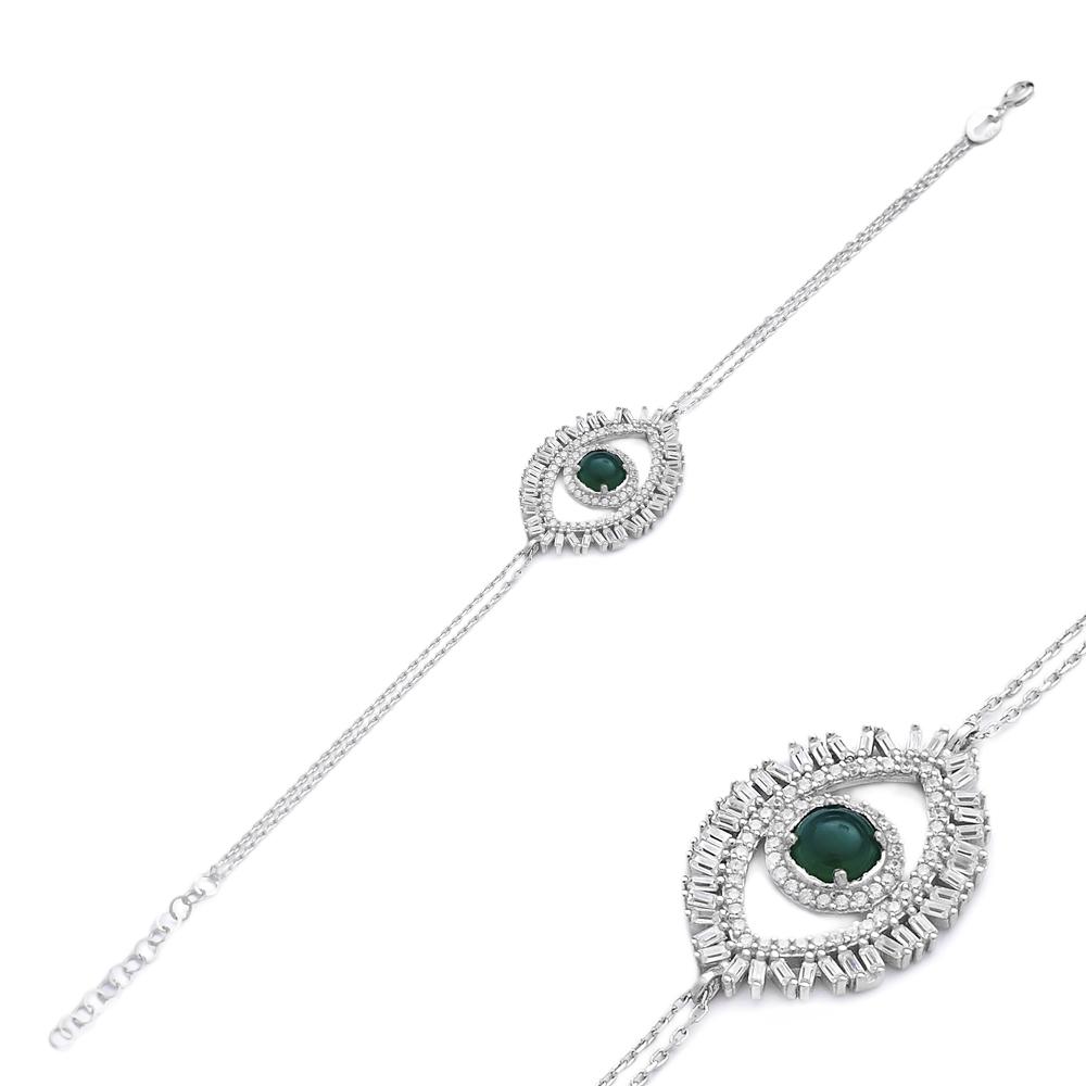 Evil Eye 925 Silver Sterling Wholesale Handcraft Jewelry Bracelet