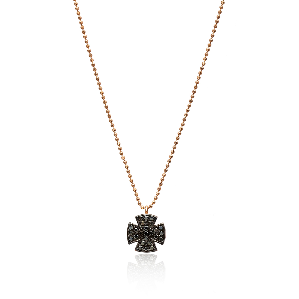 Iron Cross Pendant In Turkish Wholesale 925 Sterling Silver