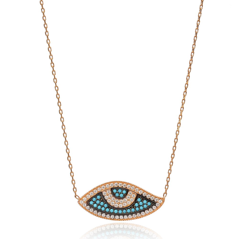 Silver Evil Eye Pendant In Turkish Wholesale 925 Sterling Silver