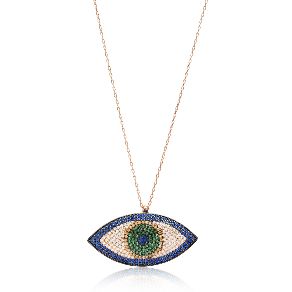 Silver Evil Eye Pendant In Turkish Wholesale Sterling Silver Pendant