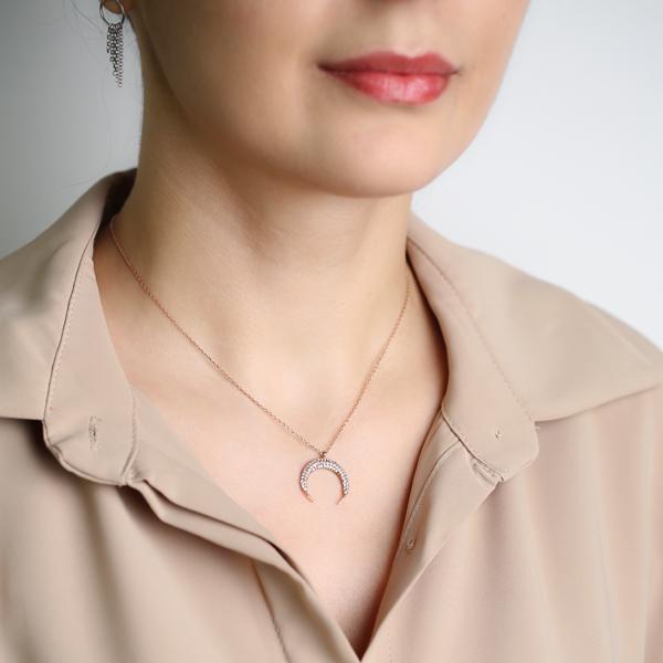 Moon Design Pendant Turkish Wholesale Silver Jewelry Pendant
