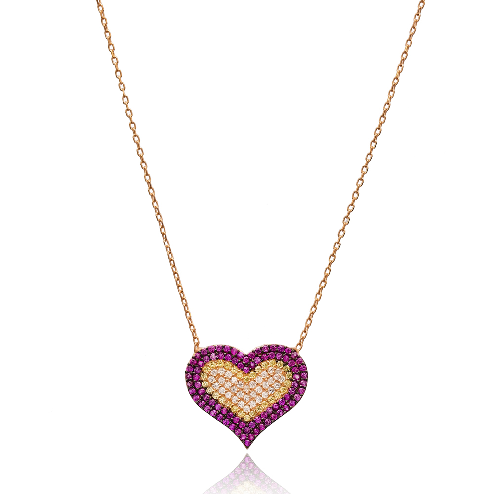 Heart Minimal Design Pendant In Turkish Wholesale 925 Sterling Silver