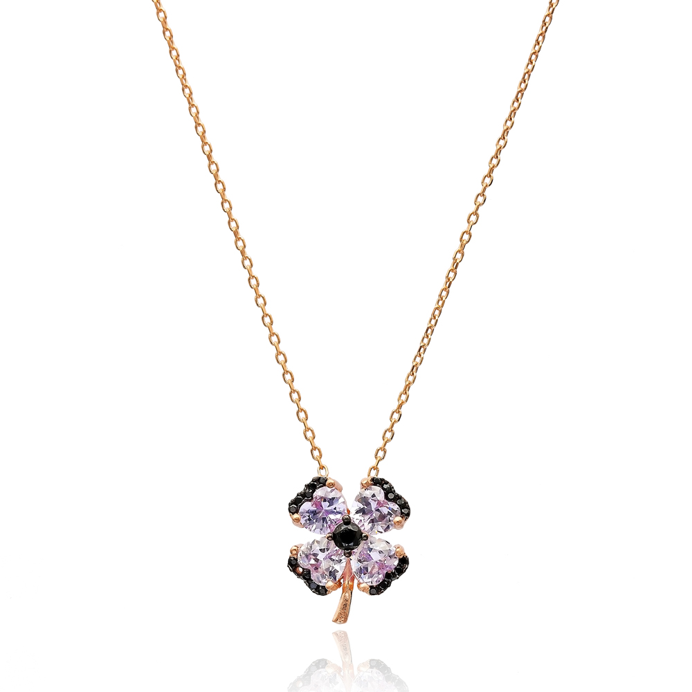 Minimal Clover Pendant In Turkish Wholesale 925 Sterling Silver Pendant