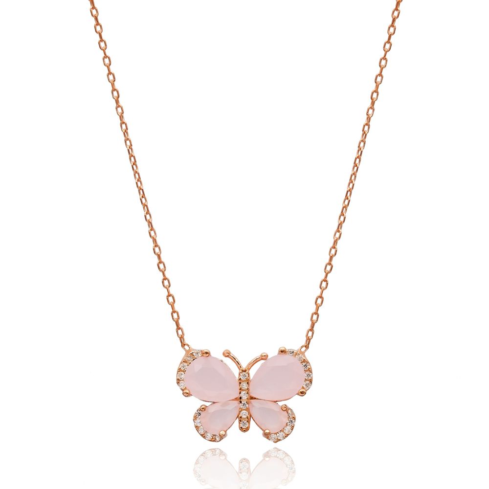 Minimal Butterfly Pendant In Turkish Wholesale 925 Sterling Silver Pendant