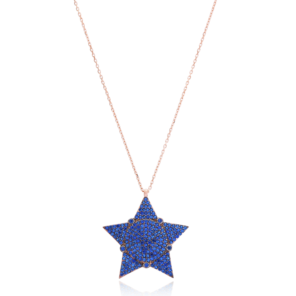 Silver Star Pendant Wholesale 925 Sterling Silver Jewelry