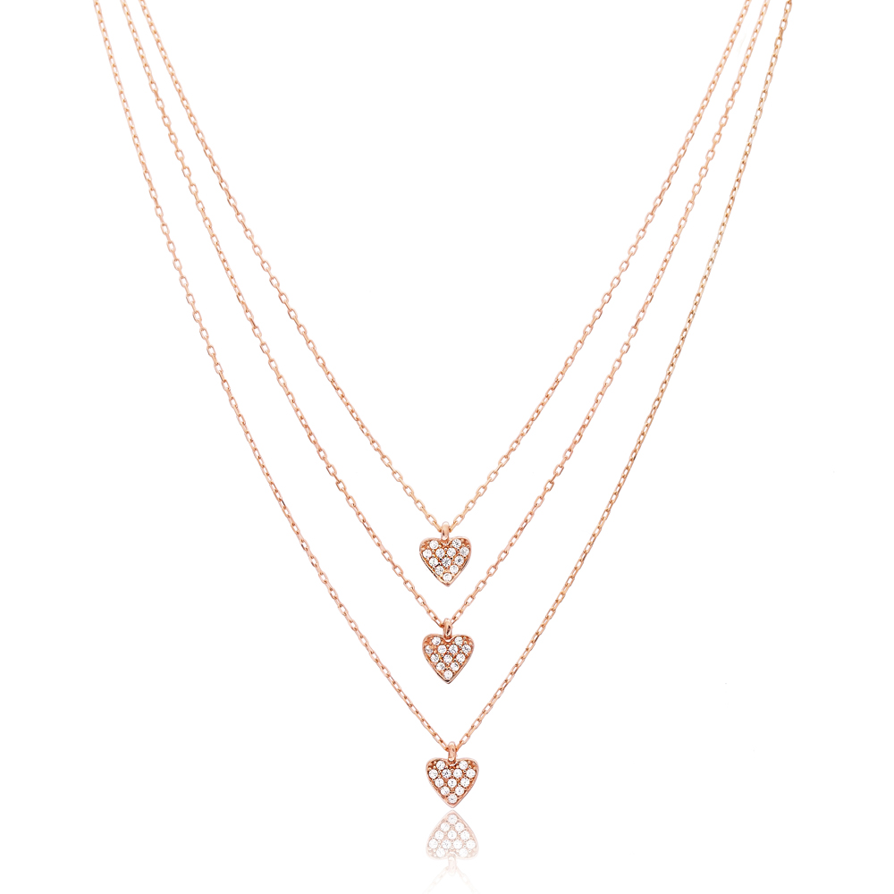 Heart Design Turkish Handmade Wholesale 925 Sterling Silver Jewelry Pendant
