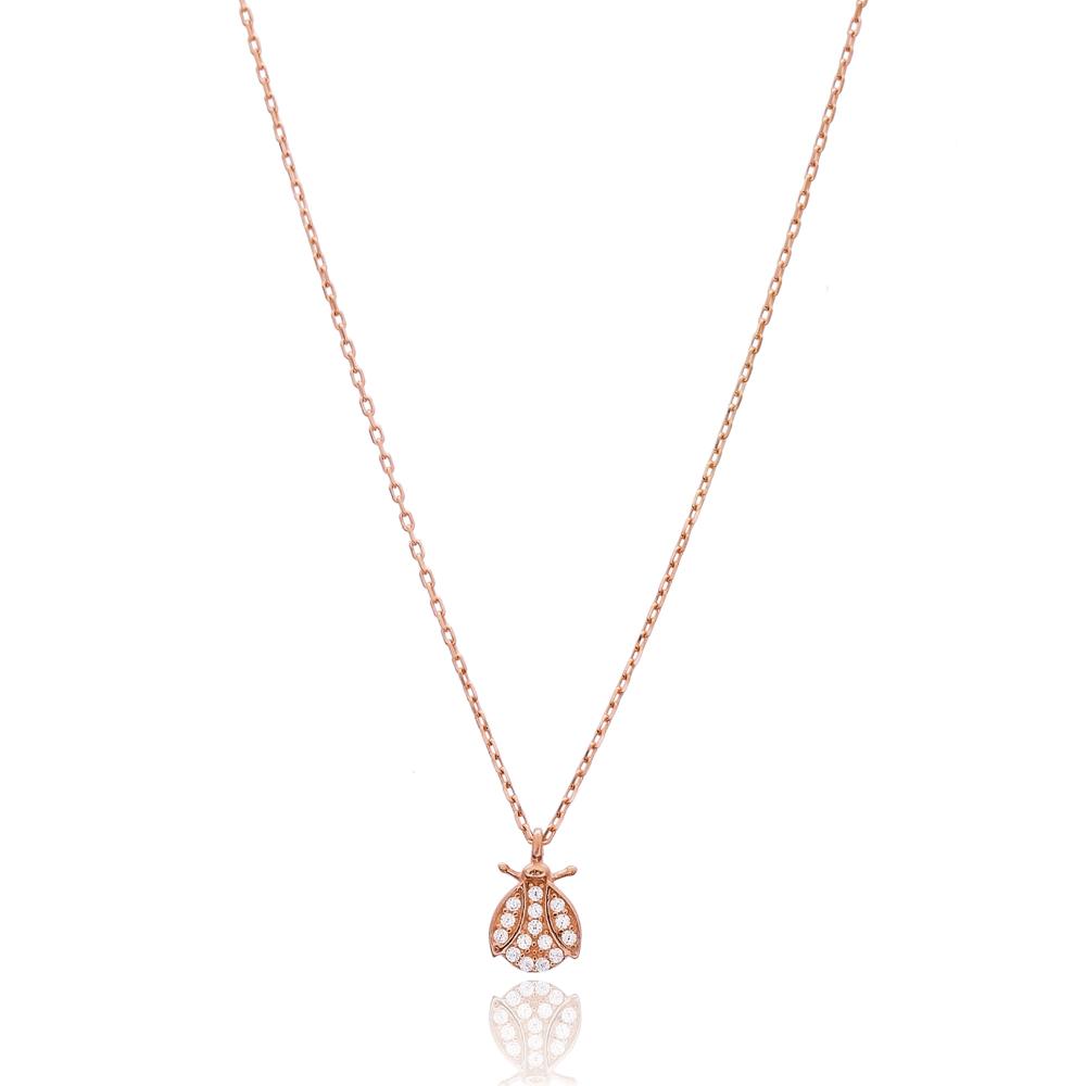 Tiny Ladybug Design Turkish Handmade Wholesale 925 Sterling Silver Jewelry Pendant