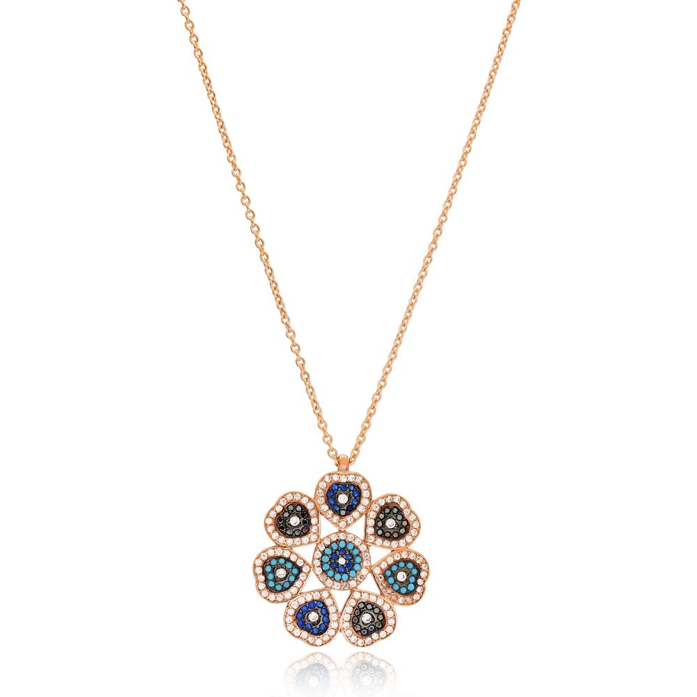 Vintage Pattern Turkish Wholesale 925 Sterling Silver Necklace