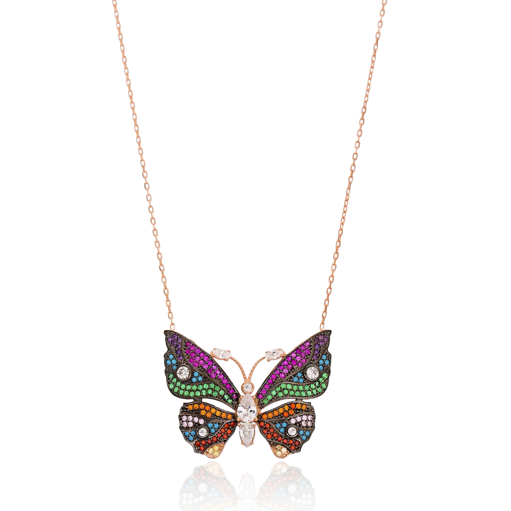 Delicate Butterfly Charm 925 Silver Pendant Wholesale Sterling Silver Jewelry